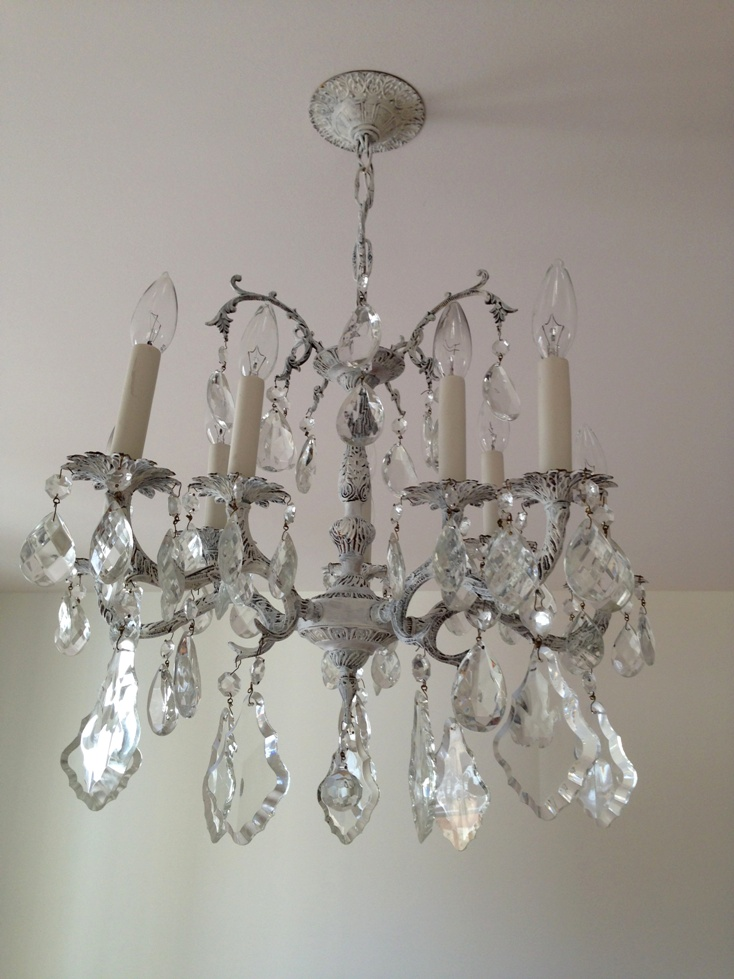 Diy cheap cheerful chandelier makeover a new to us chandelier to tie in with aloadofball Gallery